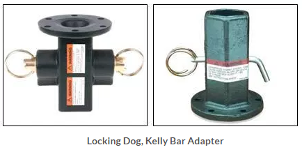 Locking Dog and Kelly Bar Adapter for Utility Trucks