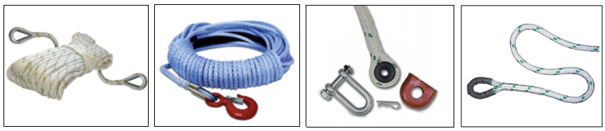 Double-Braided Polyester Winch Rope, Polyester Winch Line Rope, Double Esterlon Winch Line Rope, Tow Rope