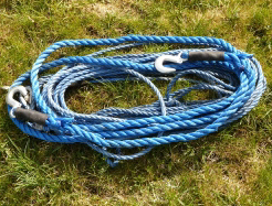 winch rope with hooks