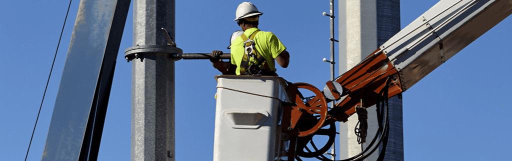 Utility Equipment, Bucket Truck worker
