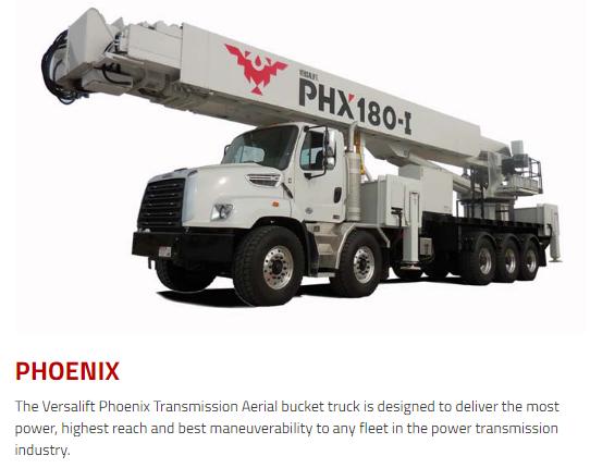 Versalift Bucket Trucks, Phoenix Series