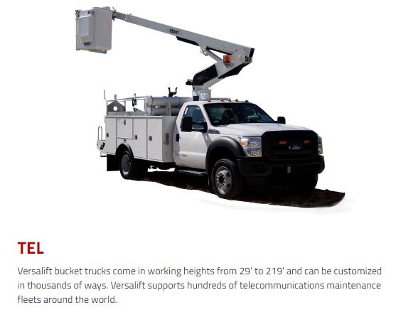 Versalift Bucket Trucks, TEL Series